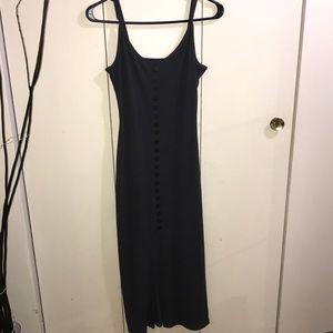 Dark grey maxi dress